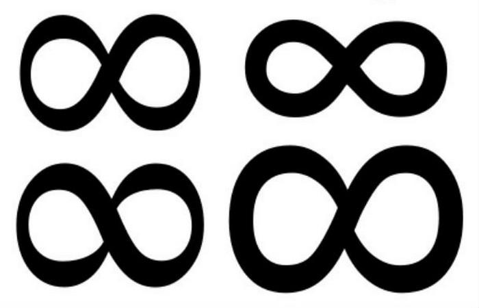 Математический знак бесконечности чисел.