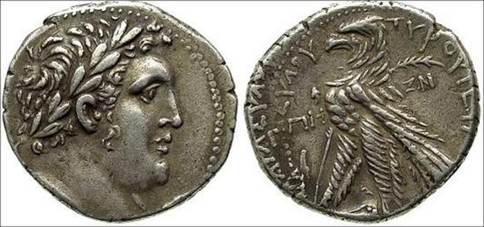 Тетрадрахма Тира, 107 - 106 до н.э.