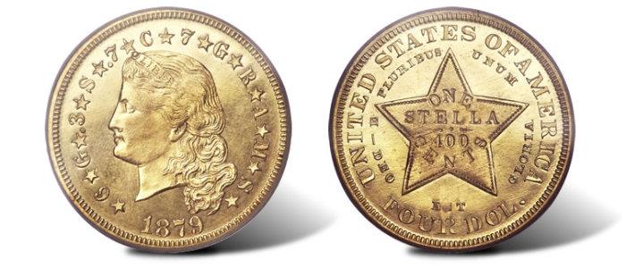 $ 4 Стелла (США, 1879-80).