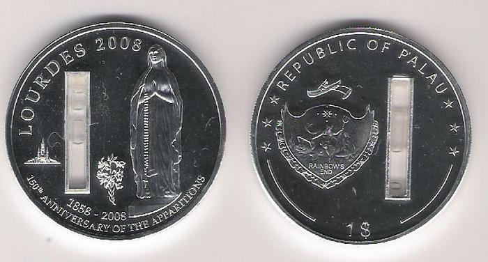 Памятная монета в честь девы Марии.