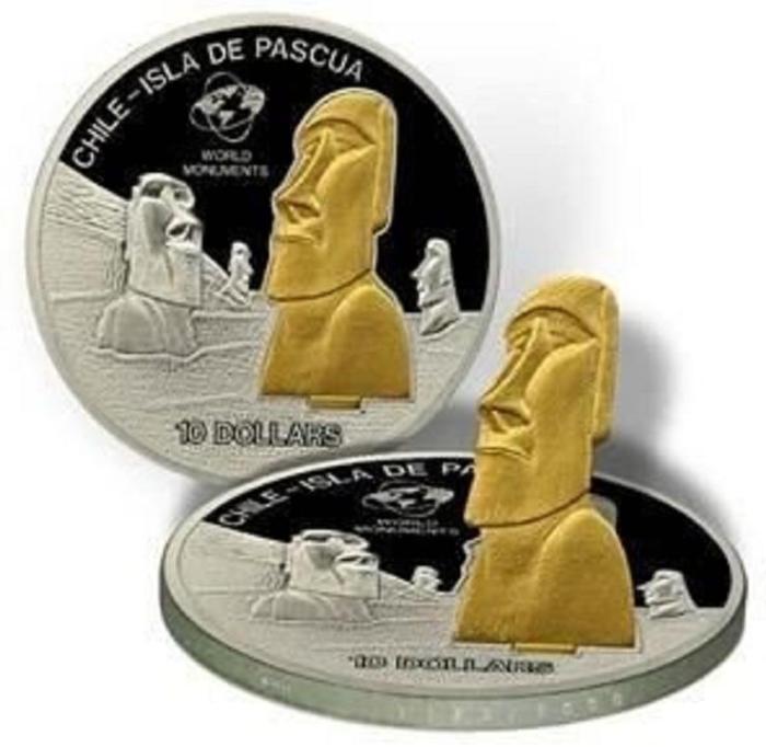 Монета со статуэткой.