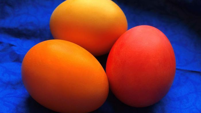 Самое первое пасхальное яйцо.