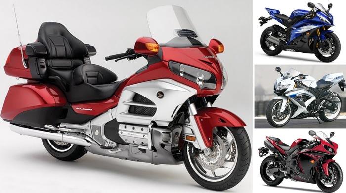 Самые популярные в России мотоциклы.