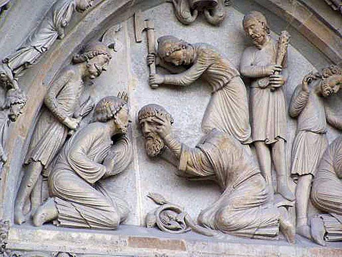 Отрубание головы Святому Дионисию.