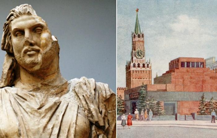 Царь Мавсола и московский Мавзолей.