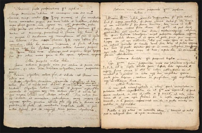 Рецепт философского камня Исаака Ньютона.
