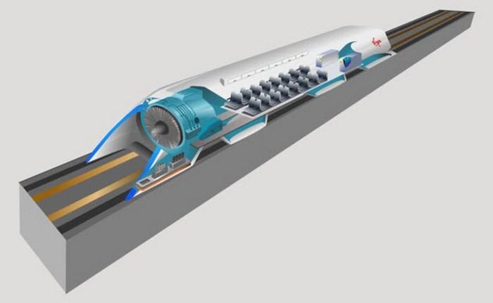 Hyperloop - транспортная система будущего.