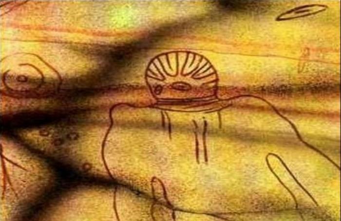 Африканская пещерная живопись.
