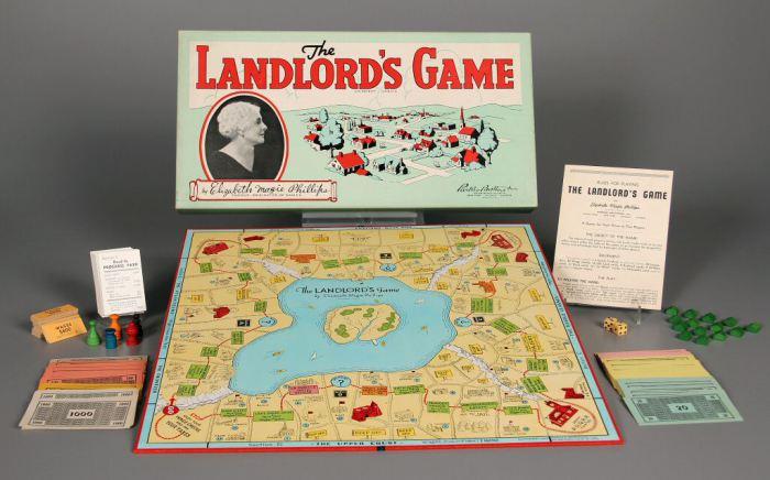 Игра лендлорда - первая Монополия.