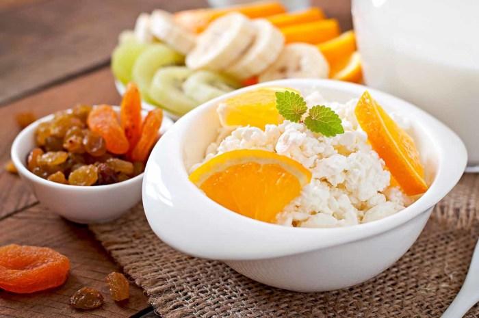 Творог с апельсином – идеальный завтрак.