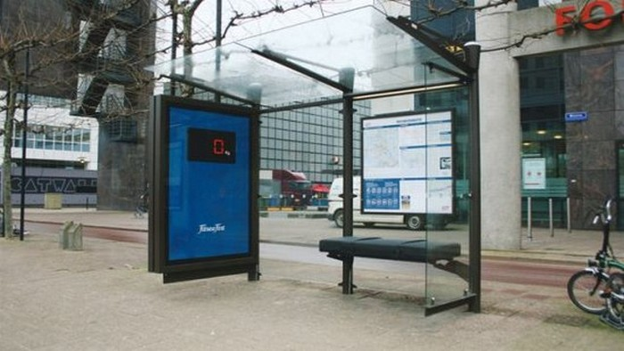 Автобусная остановка, которая раздает WiFiasdfasdf