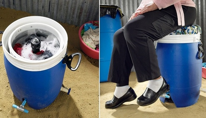 GiraDora - первая в мире ножная стиральная машина.