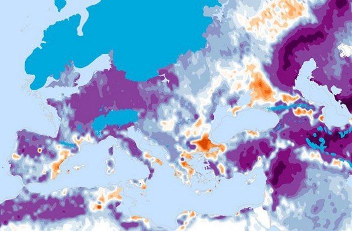 Ледниковый период и ландшафт Европы.