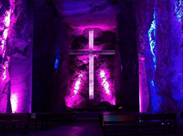 Соляной собор Сипакиры в Колумбии.