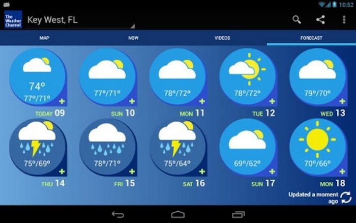 Weather Channel - самые точные метеопрогнозы.