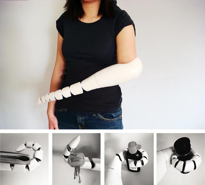 Роботизированный протез-щупальца.