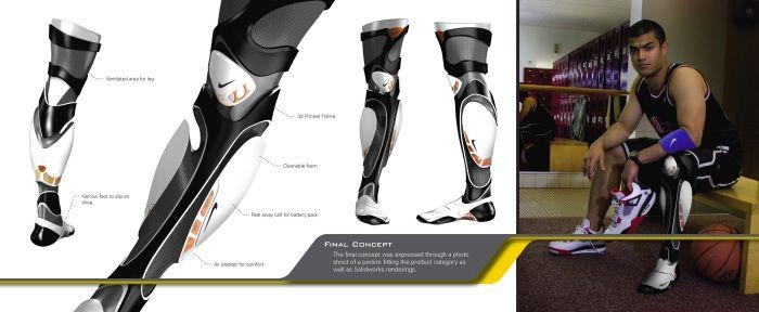 Протез в стиле Nike.