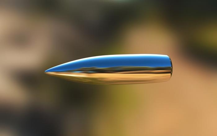 Летящая пуля.