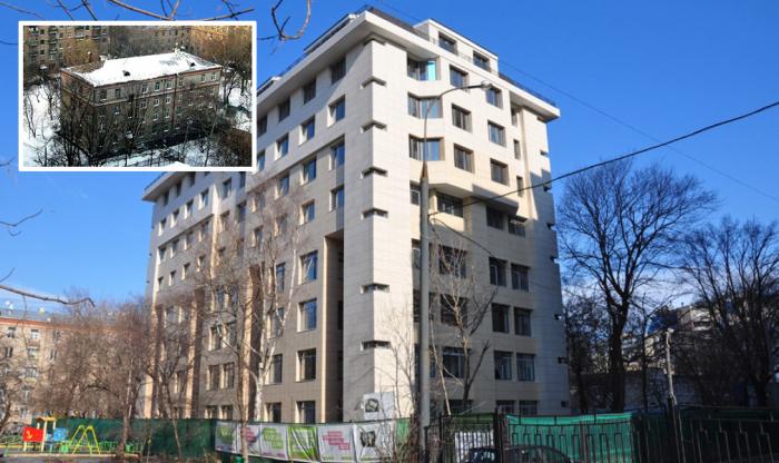 Москва, Мишина 32. Хрущёвка до и после реконструкции.