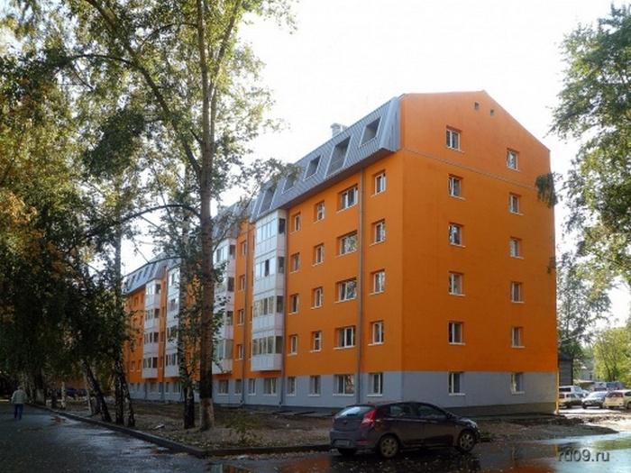 Томск, Комсомольский проспект, 71. Хрущёвка после реконструкции.
