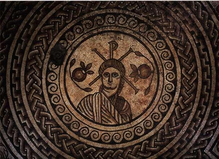 Мозаичное изображение Христа. Дорсет, Англия, IV век нашей эры.