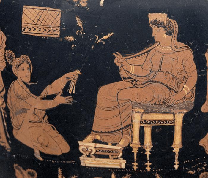 Обряды посвящения элевсинских мистерий.