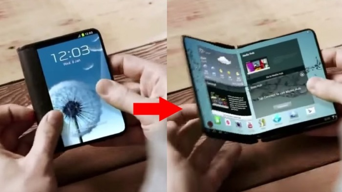 Foldable Valley - the first flexible smartphone from Samsung