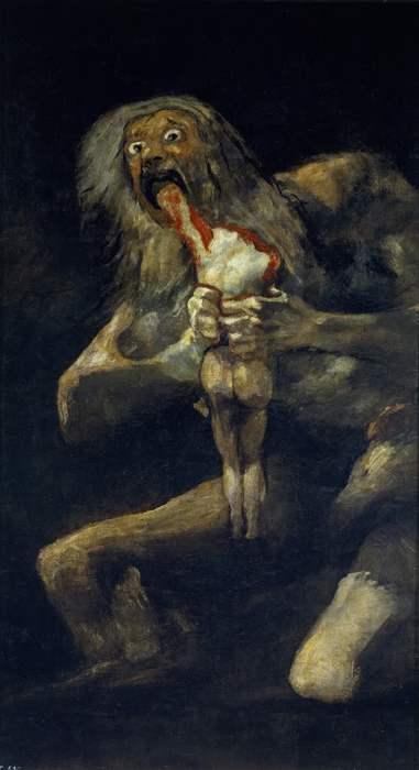 Сатурн, пожирающий своего сына. Франсиско Гойя