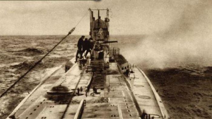Подводная лодка ракетоносец.