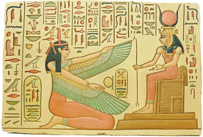 Хатхор - египетская богиня любви и войны.