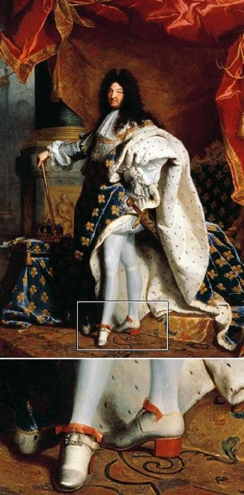 Мужские туфли времён Людовика XIV.