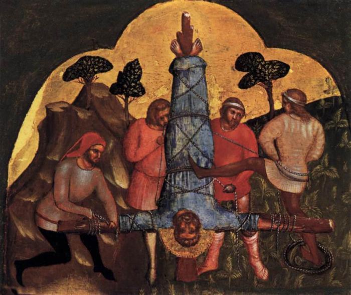 Распятие святого Петра. Лоренцо Венециано. Государственных музеев, Берлин.
