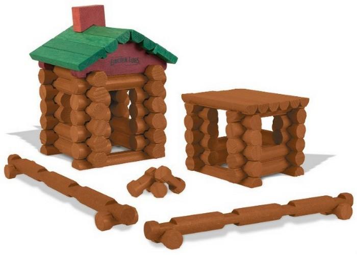Простая игрушка: бревенчатые домики Lincoln Logs.