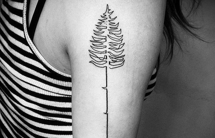 Стильные татуировки «одной линией»
