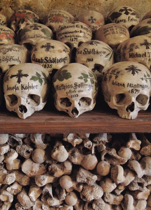 Разрисованные черепа.