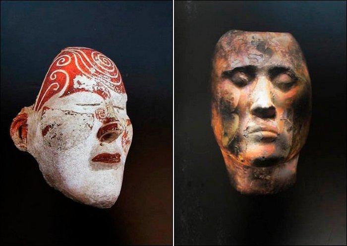 Посмертные маски из Сибири.