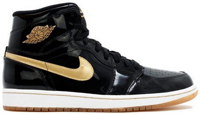 Кроссовки Air Jordan 1 Black and Gold.