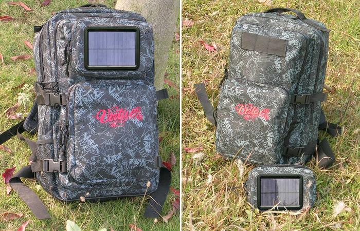 Рюкзак со съёмной солнечной батареей.