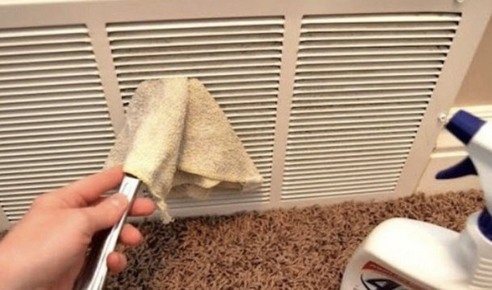 Как очистить решетку вентиляции.
