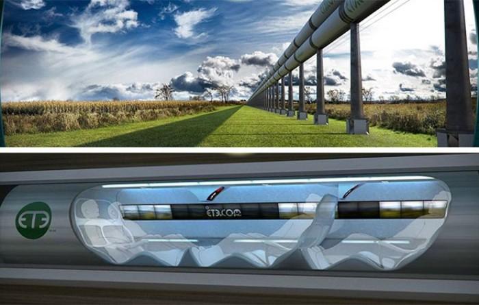 Сан-Франциско - Лос-Анджелес Hyperloop.