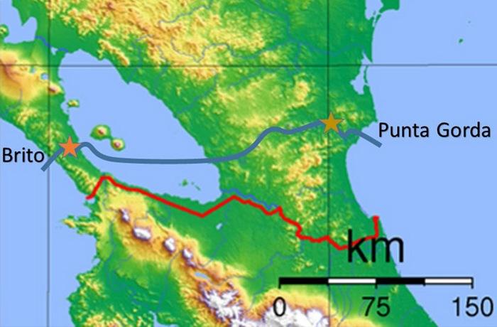 Континентальный канал в Никарагуа.