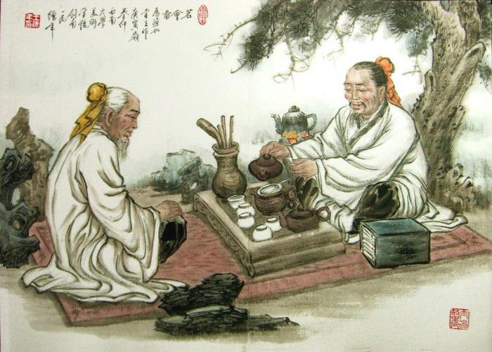 Чайный напиток пьют, чтобы утолить жажду тела, а церемонию проводят ради утоления жажды духа. (с)