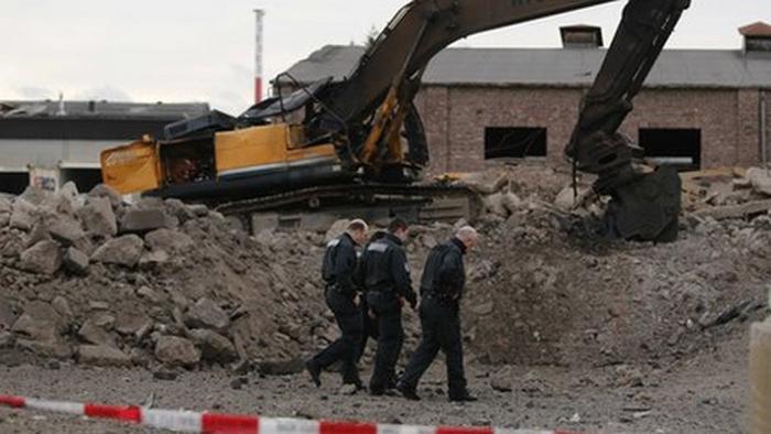 Фото  с места взрыва.