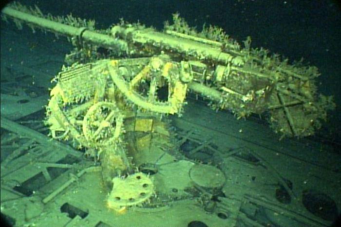 Немецкая подводная лодка.