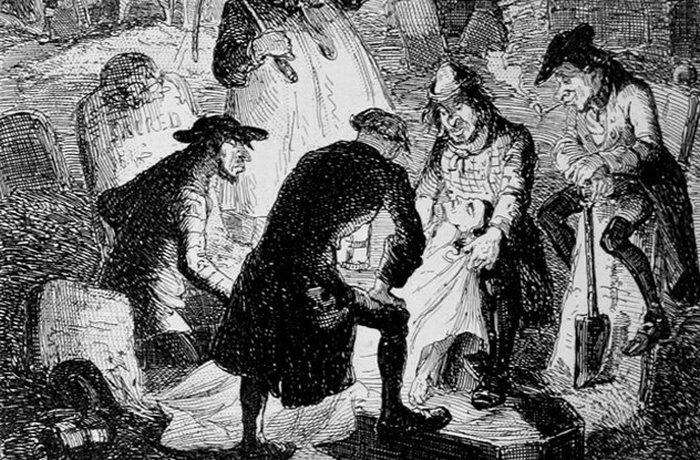 10 жутких случаев похищения тел в прошлые века.