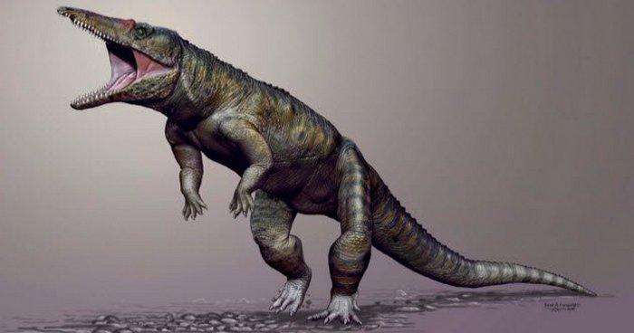 Крокодилоподобный монстр, который бродил по нашей планете.