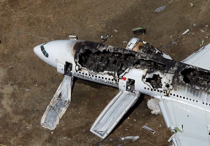 Літак, що зазнав катастрофу.