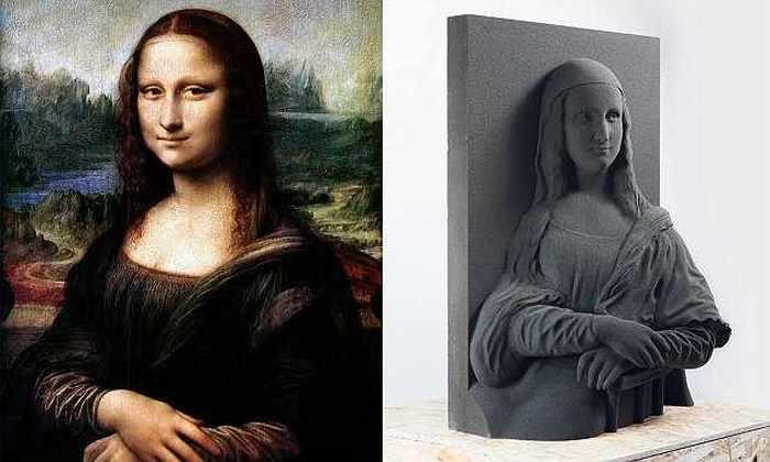 Легендарная Джоконда и её 3D-реплика.