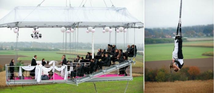 Свадьба на платформе для банджи-джампинга.
