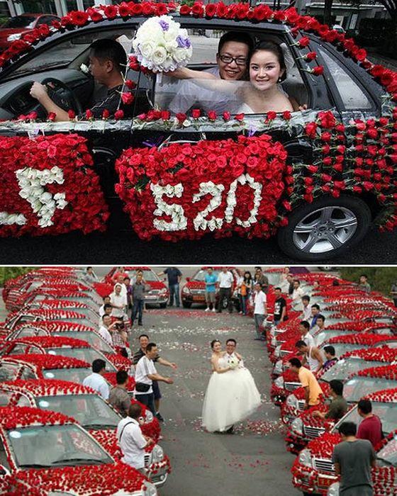 Свадьба с 99 999 розами.